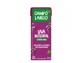 SUCO CAMPO LARGO UVA 200ML