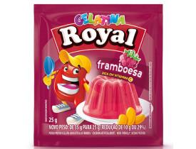 GELATINA ROYAL FRAMBOESA DP 15 UN 25G