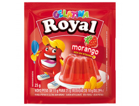 GELATINA ROYAL MORANGO DP 15 UN 25G